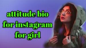 attitude bio for instagram for girl